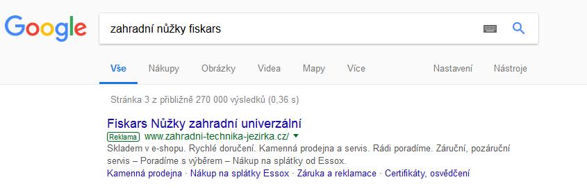 DSA a XML - náhled reklamy ve vyhledávání Google (SERP)