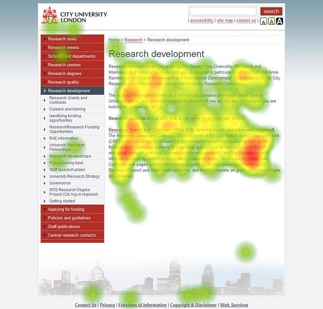 Teplotní mapa (heat map) - ukázka
