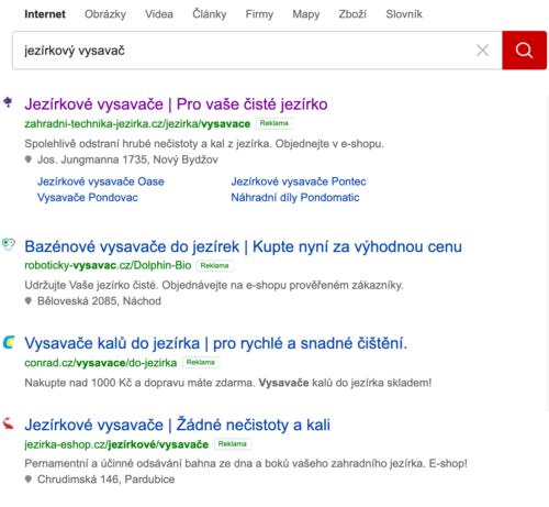 4 TOP pozice ve vyhledávání v placené reklamě na Seznam.cz