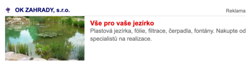 Ukázka kombinované reklamy v Skliku