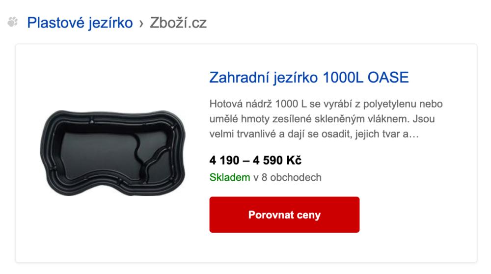 SERP v Seznam.cz - hint ze Zboží.cz