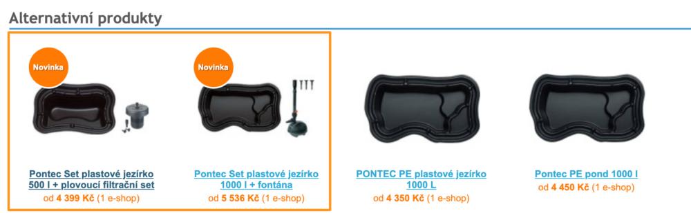 Heureka ProductADS - Alternativní produkty
