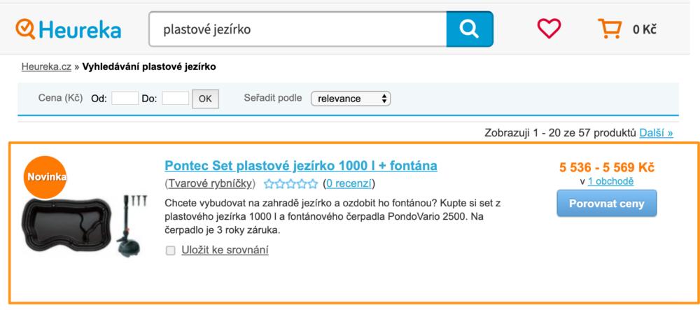 Heureka ProductADS - fulltextové vyhledávání